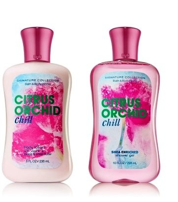 Bath Body Works Signature Collection CITRUS ORCHID CHILL DUO Body Lotion Shower Gel Gift Set