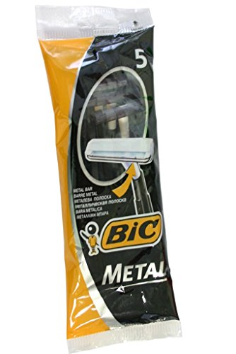 Bic Metal Quality Disposable Mens Shaving Razors Best Single Blade 5x5-count