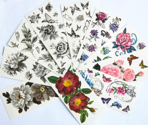 10pcs/package Hot Selling Temporary Tattoo Stickers