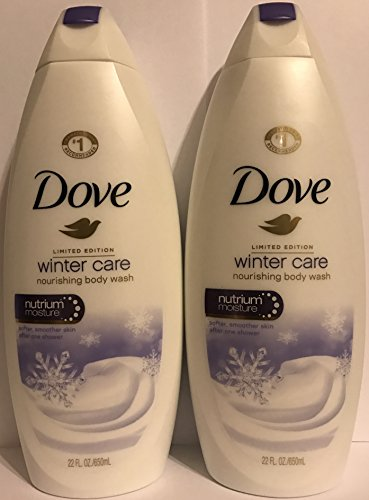 Dove Nourishing Body Wash - Limited Edition Winter Care - Net Wt 22 FL OZ 650 mL Per Bottle - Pack of 2