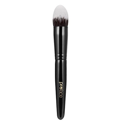 Best Synthetic Kabuki Tapered Brush Great for Concealer and Corrector Makeup - Perfect to Cover Dark Circles Darkspot Acne Scars Fine Lines Especially for Eyes Maximum Full Coverage(Black)