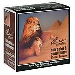 Light Mountain Henna Hair Color Conditioner Dark Brown 4 oz a - 2pc
