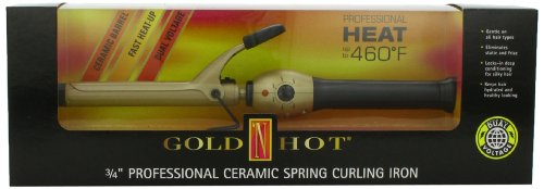 Gold N Hot Professional Ceramic Spring Curling Iron 34 Inch
