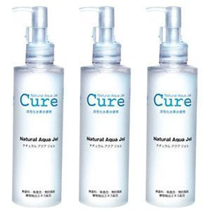 3 Pack Of Cure Natural Aqua Gel 250ml - Best Selling
