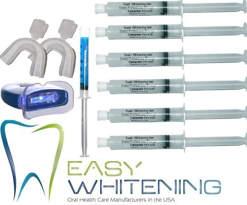 Easy-smile - Kit Tooth Whitening -Led Light  60 Cc 6x10cc Peroxide Carbamide 35  Remineralization 3cc FCP Enamel Gel2 Trays