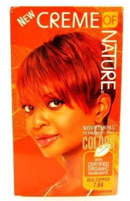 Creme of Nature Gel Color Nourishing  764 Red Copper 3-Pack with Free Nail File