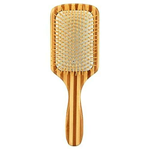 1 Pcs Bamboo Paddle Hair Brush-Detangling Scalp Massage Hair Comb for All Hair Types KSNH