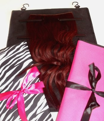 Pukka Hair Extensions - Zebra Storage Bag  Case  Wrap to store Clip In Human  Synthetic Hair Extensions