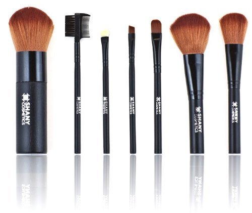 Shany Studio Quality Cosmetic Brush Set 7 Piece Mink Hair with Bag by SHANY Cosmetics