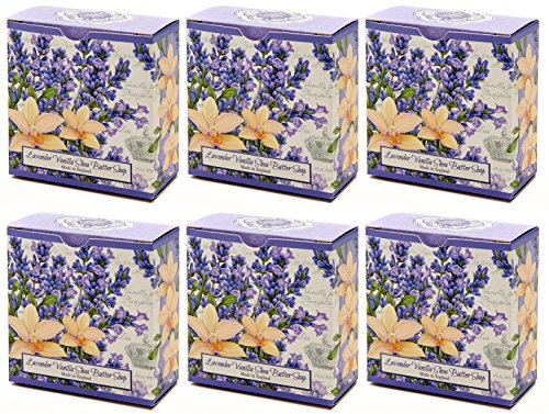 Value Pack Lavender Vanilla Shea Butter Round Bar SoapScent Lavender Mimosa Balsamic Vanilla Musk Sandlewood 6 packBuy 5 bars Get 1 FREE