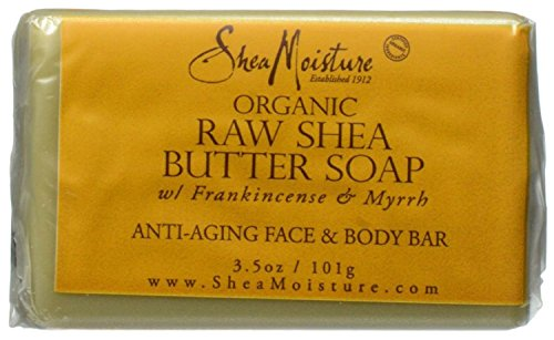 Shea Moisture Raw Shea Butter Facial Bar Soap 35 oz Pack of 2