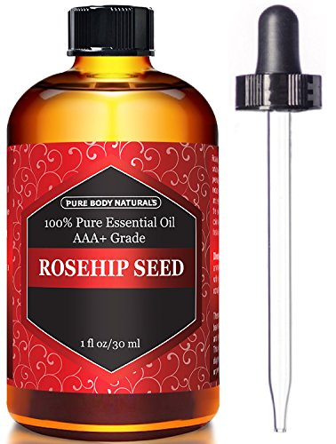 Rosehip Oil for Face Nails Hair and Skin - 100 Pure Cold Pressed Premium Rose Hip Seed Oil - 1 oz