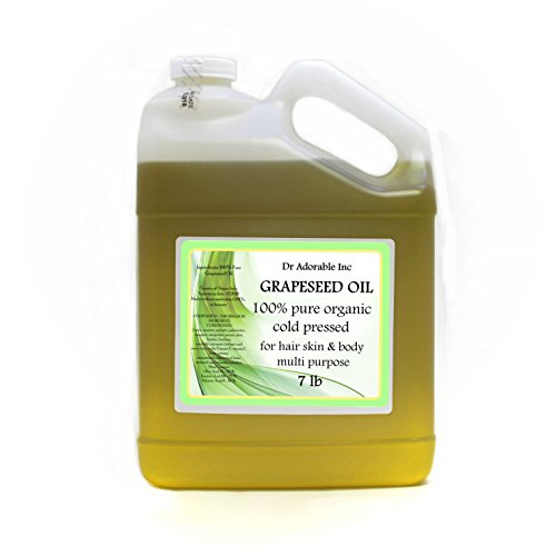 7 Lb One Gallon Organic Grapeseed Oil