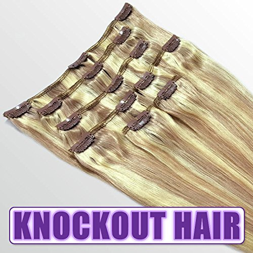 Clip In Human Hair Extensions 18&quot - 120 Grams Full Head