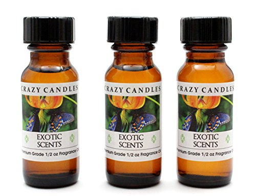 Exotic Scents AD Womens Aroma Blend of Ocean Breezes with Sweet Citrus 3 Bottles 12 Fl Oz Each 15ml Premium Grade Scented Fragrance Oil By Crazy Candles
