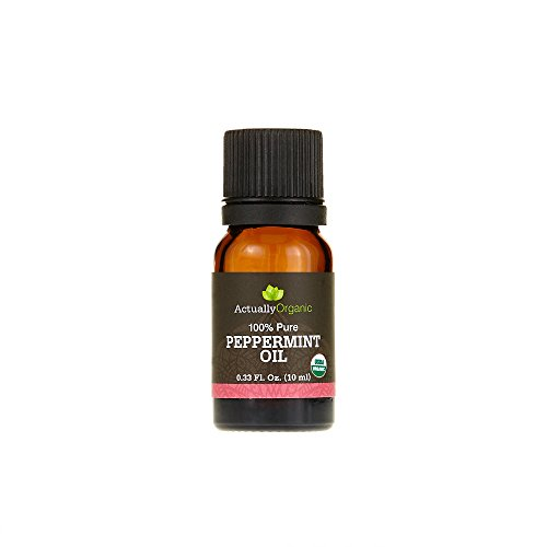 ActuallyOrganic 100 Pure and Natural Peppermint Oil for Rejuvenating Skin and Relieving Scalp of Dry Irritated Skin