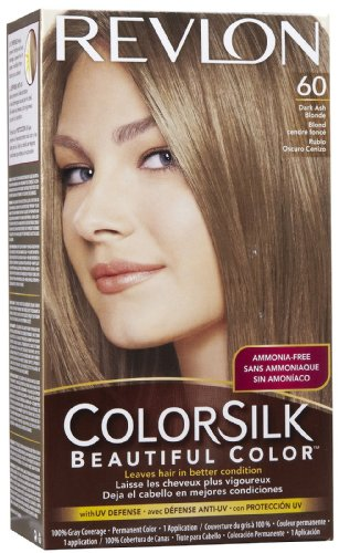 Revlon Colorsilk Beautiful Haircolor Ammonia-free Permanent Haircolor 60 Dark Ash Blonde 1 Count Pack of 12