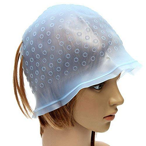 Silicone Highlighting Cap for Hair Dye Extension Styling Tools Hair Dye Cap Reusable Professional Tripping and Frosting