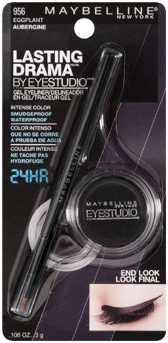 Maybelline New York Eye Studio Lasting Drama Gel Eyeliner Eggplant 956 011 Ounce 2 Ea by Voronajj