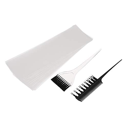 Cigooxm Hair Color Dye Kit Professional Hair Coloring Dyeing Highlighting Tool Hair Color Comb Applicator Tint Brush Plastic Hair Dye Paper Set