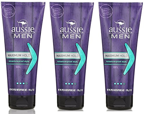 Aussie Men Max Hold Gel For Men 7 Oz Pack of 3