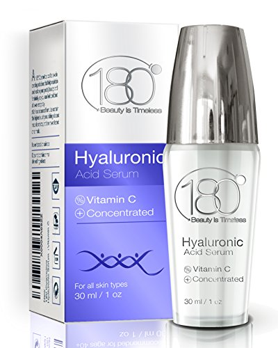 PREMIUM Hyaluronic Acid Vitamin C Serum by 180 Cosmetics Get Rid Of Wrinkles From Day 1 and Enjoy Younger Looking Skin - for Wrinkles Fine Lines Sensitive Skin - Clinical Strength -Retinol Serum