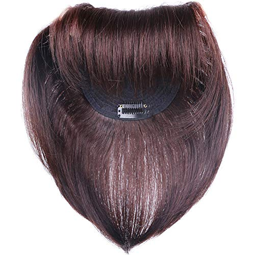 Yanamy 43x43 Secret Crown Topper Human Hair for Women with White or Thin Hair Clip in 12 Dark Brown