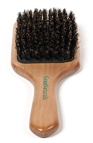 GranNaturals Boar Bristle Paddle Hair Brush