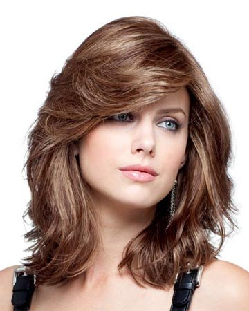 MARIAN Fashion Hairstyles Long Wavy Synthetic Bob Wigs for Women with Bangs