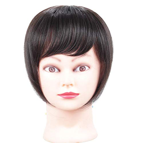 Remeehi Synthetic Womens Hair Topper with Thinning Hair Natural Looking Toupee Clip in HairpieceBrown Black