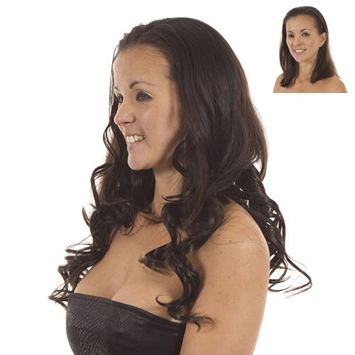 Volu Curl Clip in Hair Extensions  Full Head  5 Weft Extensions  Shade Garland - Deep Red
