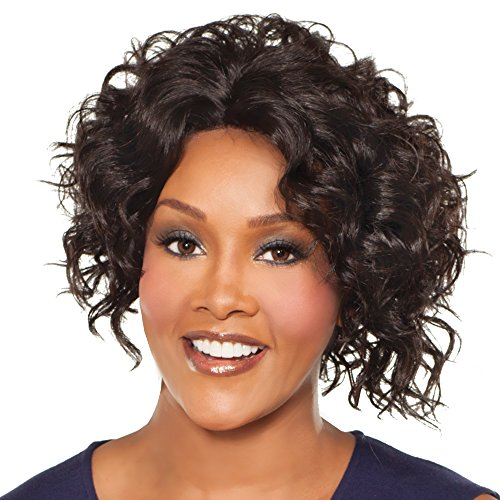 Vivica A Fox MEGAN-V New Futura Fiber Natural Baby Hair Lace Front Wig in Color 4