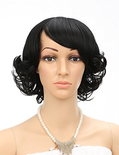 Fani Short Curly Wig Full Head Cosplay Wig With Free Cap Natural Color