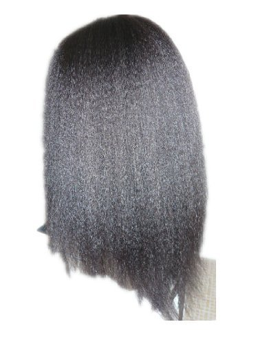 14 Kinky Straight Lace Front Wig Color 1b
