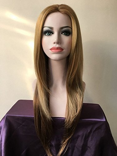 Magic Wig World Classical Long Straight Blonde Synthetic Wig Hairstyle