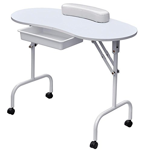 Gotobuy Portable Manicure Table with Soft Wrist Cushion and Free Carrying Case