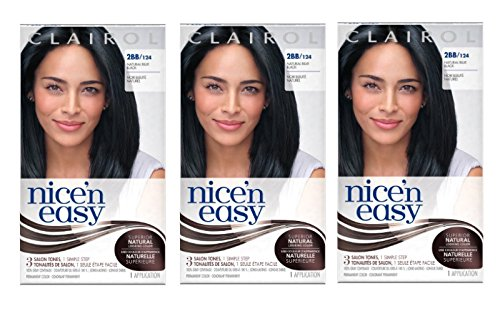 Clairol Nice n Easy Hair Color 124 2BB Natural Blue Black 1 Kit Pack of 3