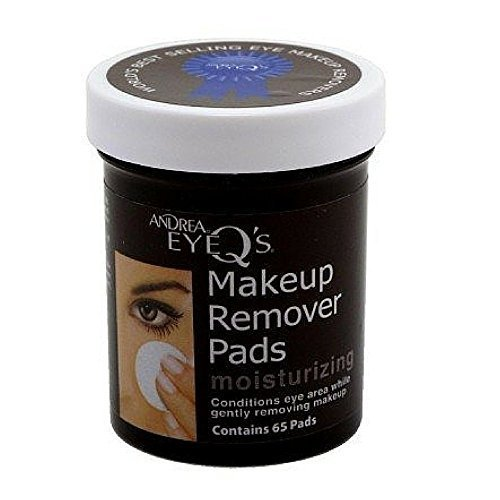 ANDREA EyeQs Moisturizing Eye Make Up Remover Conditions the Eye Area while Cleansing Quantity 65 Pads by Andrea EyeQs Eye Makeup Remover Pads