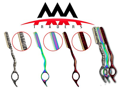 Hairdressing Hair Styling Razor 3 in 1 Three Colors White Zebra Pink Zebra Multi Color