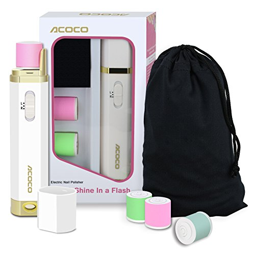 Acoco Perfect Electronic Nail Care System, Nail Buffer