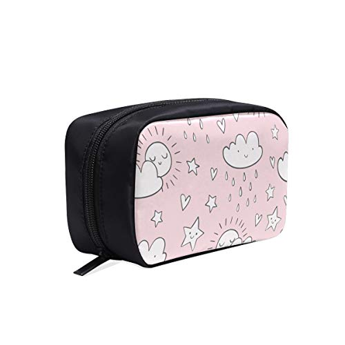 Women Toiletry Bag Cute Cartoon Beautiful Star Rain Fashion Designer Bag Travel Cosmetic Bag Women Teen Toiletry Bag Cosmetic Bags Multifunction Case Cosmetic Makeup Bag
