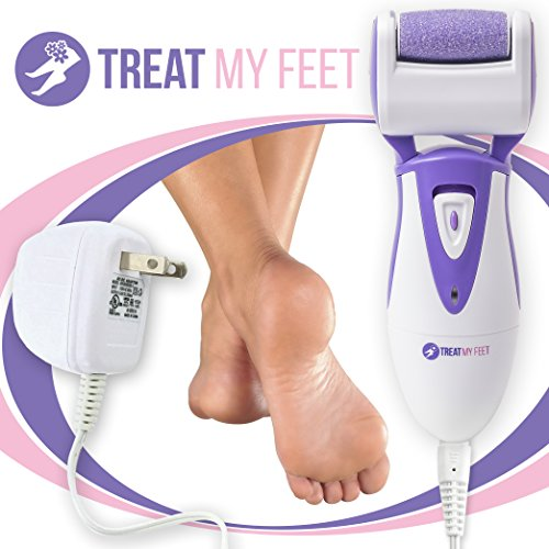 Rechargeable Electric Callus Remover Foot File - Pedicure Tool to Exfoliate Dry Feet Cracked Heels with Powerful Pumice Stone Rollers Heel Smoother Callous Shaver Sander for Women Men