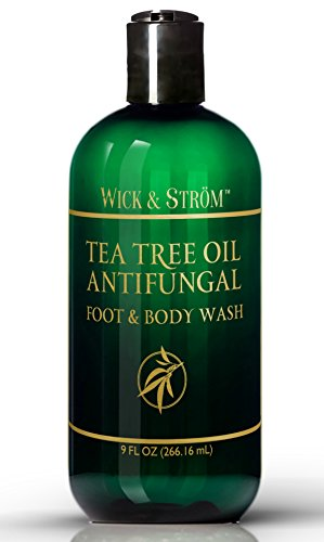Antifungal Soap w Tea Tree Oil Active Ingredient Proven Clinically Effective in Athletes Foot Jock Itch Ringworm Treatment Helps Body Acne Odor