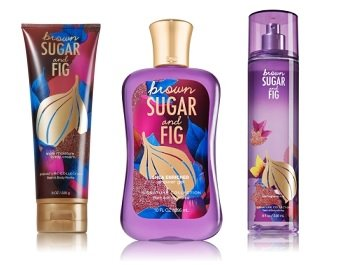 Bath Body Works BROWN SUGAR AND FIG Set Shower Gel ~ Triple Moisture Body Cream ~ Fine Fragance Mist