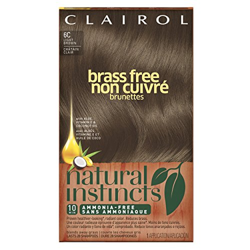 Clairol Natural Instincts Brass Free Hair Color 6c Light