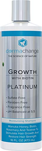 Platinum Hair Growth Moisturizing Shampoo - With Argan Oil Biotin Tea Tree Extract - Supports Hair Regrowth - Hair Loss Treatments 16 oz - Made in USA