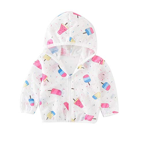 Hotiary Children Kids UVSun Protection Cartoon Hoodie Quick Dry Ultrathin Beach and Air Conditioning Jacket
