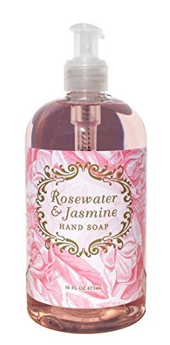 Greenwich Bay Rosewater Jasmine Shea Butter Liquid Hand Soap Enriched with Cocoa Butter and Jasmine Oil 16 oz