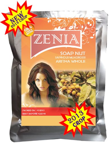 100g 2013 Zenia Whole Aritha Soapnut Natural Hair Cleanser Conditioner SILVER FOIL PACK FRESH CROP