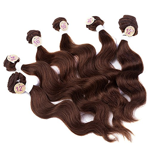 Brazilian Virgin Hair Body Human Hair Set 6 Bundles 200gSet 12 14 16 Light Brown